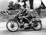 Stanley Woods on Moto Guzzi in 1935 Isle of Man, Senior TT Race Prints
