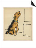 Dog in a Green Collar Posters by Cecil Aldin