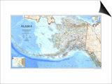 1994 Alaska Map Print