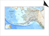 1994 Alaska Map Print by  National Geographic Maps
