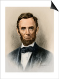 Portrait of President Abraham Lincoln Prints