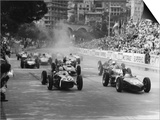 Start of 1961 Monaco Grand Prix, Stirling Moss in Car 20, Lotus 18 Who Won the Race Prints