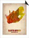 South Africa Watercolor Poster Posters by  NaxArt