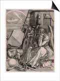 Melancholia Print by Albrecht Dürer