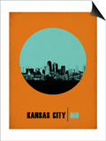 Kansas City Circle Poster 1 Print by  NaxArt