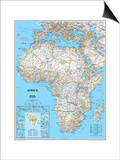 Africa Political Map Poster by  National Geographic Maps
