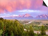 Teton Range Kunstdruck von Art Wolfe
