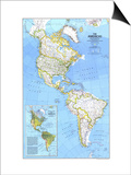 1979 The Americas Map Print by  National Geographic Maps
