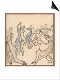 Seriously Passionate Couples Dance the Tango Prints by Olaf Gulbransson