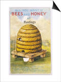 Beehive and One Bee Prints