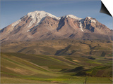Chimborazo Mountain (6310 Meters) the Highest Mountain in Ecuador, Chimborazo Reserve, Ecuador Posters by Pete Oxford