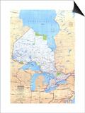 1978 Ontario Canada Map Poster