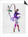 Two Dancing Ballerinas Watercolor 4 Prints by Irina March