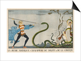 America Comes to the Rescue of Justice and Liberty Poster by Georges Barbier