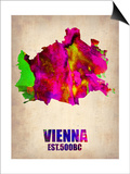Vienna Watercolor Poster Prints by  NaxArt