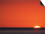 Sun Setting Over Gulf of Mexico, Florida, USA Poster by Rolf Nussbaumer