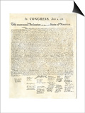 American Declaration of Independence, c.1776 Posters