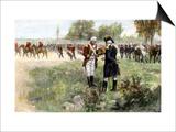 Surrender of British Commander Burgoyne to American General Gates at Saratoga, New York, c.1777 Poster