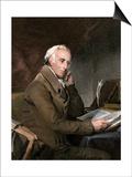 Dr. Benjamin Rush at His Desk Prints