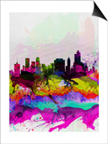 Tulsa Watercolor Skyline Poster by  NaxArt