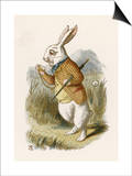 Alice and the White Rabbit Posters by John Tenniel