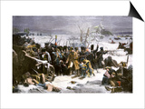Marshal Ney Bringing the French Rear-Guard Out of Russia with Heavy Losses, c.1812 Prints
