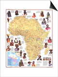 1971 Peoples of Africa Map Posters by  National Geographic Maps