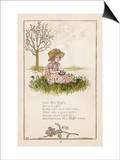 Sufferers from Arachnophobia Will Sympathise with Little Miss Muffet Prints by Kate Greenaway
