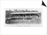 Men's Singles Match on Centre Court at Wimbledon Poster