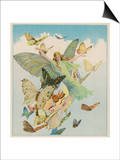 Fairy Flying with Butterflies Prints