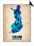 Finland Watercolor Poster Prints by  NaxArt