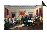 Signing the Declaration of Independence, July 4, 1776 Poster