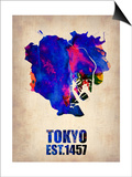 Tokyo Watercolor Map 1 Art by  NaxArt
