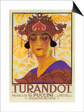 Portrait of Princess Turandot Posters