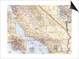 1966 Southern California Map Posters by  National Geographic Maps