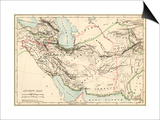 Map of the Ancient Persian Empire Poster