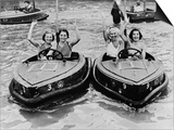 Electric Motor Boats at Dreamland Amusement Park Margate Kent Prints