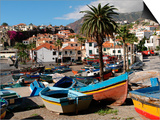 Fishing Boats at Camara De Lobos, Madeira Print