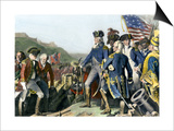 Surrender of British Army to Washington and Rochambeau at Yorktown, c.1781 Prints