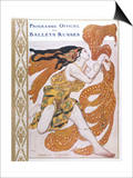 Narcisse Cover for the Offical Programme of Narcisse Prints by Leon Bakst