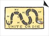 Unite or Die, c.1750 Prints