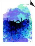 Venice Watercolor Skyline Posters by  NaxArt