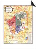 1996 Jerusalem, the Old City Map Prints