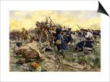 First Maryland Regiment Retaking British Field Artillery at Guilford Court House, North Carolina Prints