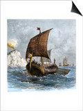 Danish Viking Ship, Raven, at Sea Art