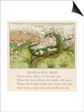 Baby Sleeps in Its Cradle Among the Apple Blossom Unaware of the Danger That Prints by Kate Greenaway
