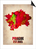 Prague Watercolor Poster Print by  NaxArt