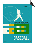 Baseball Poster Posters by  NaxArt
