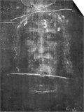 Part of the First Photograph of the Shroud Showing the Face Print