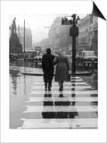 A City Street on a Rainy Day : the Location Is Manchester Posters by Henry Grant